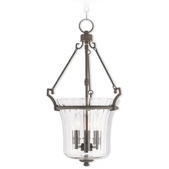 Livex Lighting Cortland Bronze Pendant Light with Fluted Shade