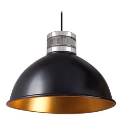 Industrial Black and Gold LED Pendant 3000K 472LM