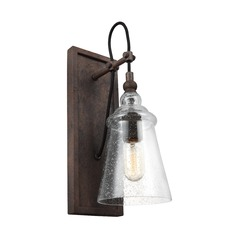 Feiss Lighting Loras Dark Weathered Iron Sconce