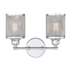 Polished Chrome Bathroom Light Salvador Collection by Savoy House