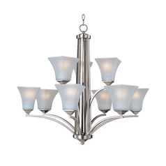 Maxim Lighting Aurora Satin Nickel Chandelier