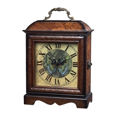 Clock in Brown Wood Finish