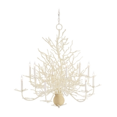 Chandelier in White Coral/natural Sand Finish