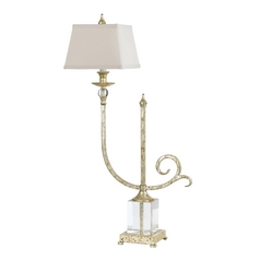 Console & Buffet Lamp with Beige / Cream Shade in Soft Gold Finish