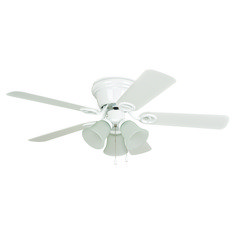 Craftmade Lighting Wyman White Ceiling Fan with Light