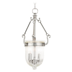 Livex Lighting Coventry Polished Nickel Mini-Pendant Light with Bowl / Dome Shade