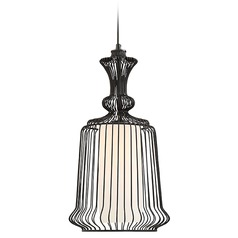 Savoy House Lighting Laporte Matte Black Pendant Light with Cylindrical Shade