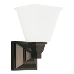 Sea Gull Lighting Denhelm Burnt Sienna LED Sconce