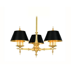 Chandelier in Aged Brass Finish