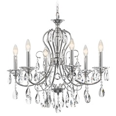 Kichler Crystal Chandelier in Chrome Finish
