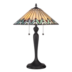 Table Lamp with Multi-Color Glass