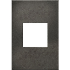 Legrand Adorne Dark Burnished Pewter 1-Gang Switch Plate