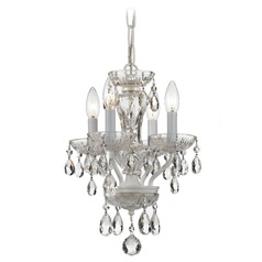 Crystorama Lighting Traditional Crystal Wet White Chandelier