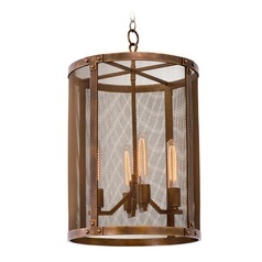 Kalco Chelsea Copper Patina Pendant Light
