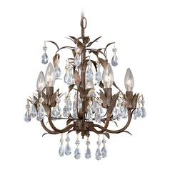 Mini Chandelier Helenic Patina Mini-Chandelier by Vaxcel Lighting