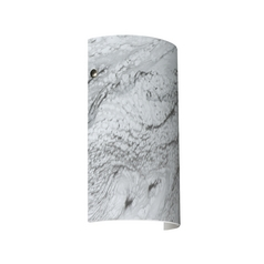 Modern Sconce Wall Light Marble Grigio Glass Satin Nickel by Besa Lighting