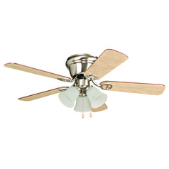 Craftmade Lighting Wyman Brushed Polished Nickel Ceiling Fan with Light