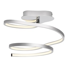 Elan Lighting Tintori Chrome + Oxidised Silver LED Semi-Flushmount Light