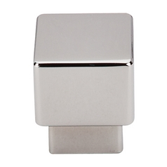 Modern Cabinet Knob in Polished Nickel Finish