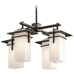 Kichler Caterham Four-Light Square Mini-Chandelier
