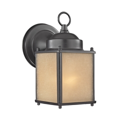 Small Bronze Square Outdoor Wall Light