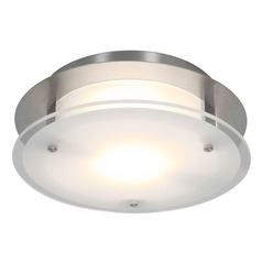 Access Lighting Visionround Brushed Steel LED Flushmount Light