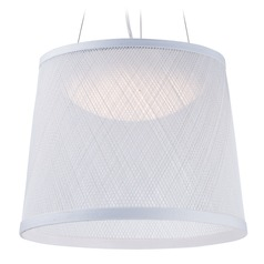 Maxim Lighting Bahama White LED Pendant Light with Bowl / Dome Shade