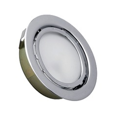 120V Xenon Puck Light Recessed / Surface Mount 3000K Stainless Steel by Alico Lighting