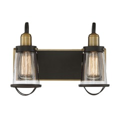 Bronze / Brass Bathroom Light Lansing Collection by Savoy House