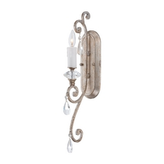 Sconce Wall Light in Vintage Silver Finish