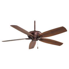 52-Inch Ceiling Fan Without Light in Dark Brushed Bronze Finish