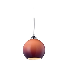 Elk Lighting HGTV Mini-Pendant Light with Purple Shade 10240/1PUR