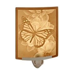 Porcelain Garden Lighting Lithophane Night Light with Butterfly NRC106 PO BUTTERFLY NIGHT LIGHT