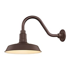Bronze Gooseneck Barn Light with 12