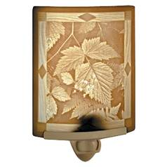 Porcelain Garden Lighting Leaves Night Light NR-117
