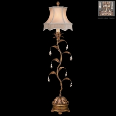 Fine Art Lamps Pastiche Silver Leaf Console & Buffet Lamp with Bell Shade