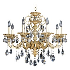 Allegri Vivaldi 8-Light Crystal Chandelier in 2 Tone 24K Gold