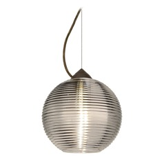Besa Lighting Kristall Bronze LED Pendant Light with Globe Shade