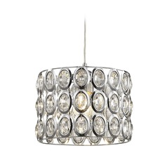 Elk Lighting Tessa Polished Chrome Mini-Pendant Light