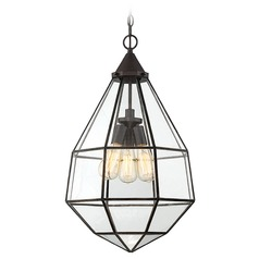 Savoy House Lighting Austen English Bronze Pendant Light with Hexagon Shade