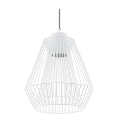Eglo Piastre White Pendant Light with Bowl / Dome Shade