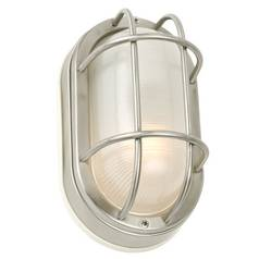 Design Classics Lighting 8-Inch Oval Bulkhead Light 39856 SS