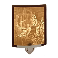 Porcelain Garden Lighting Sweet Nectar Bird Night Light with Porcelain Lithopane Shade NRC131 PO SWEET NECTAR NIGHT LIGHT