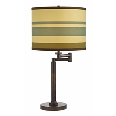 Design Classics Lighting Bronze Three-Way Drum Table Lamp with Swing-Arm 1902-1-604 SH9542