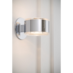 Holtkoetter Modern Sconce Wall Light in Chrome Finish