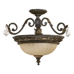 Quorum Lighting Rio Salado Toasted Sienna with Mystic Silver Semi-Flushmount Light