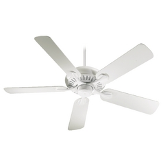 Quorum Lighting Pinnacle Studio White Ceiling Fan Without Light