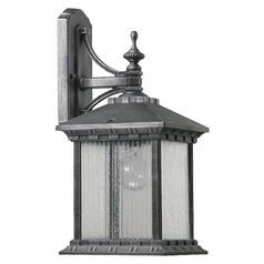 Quorum Lighting Huxley Rustic Silver Outdoor Wall Light