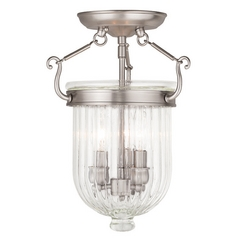 Livex Lighting Coventry Brushed Nickel Semi-Flushmount Light