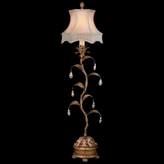 Fine Art Lamps Pastiche Antique Gold Console & Buffet Lamp with Bell Shade